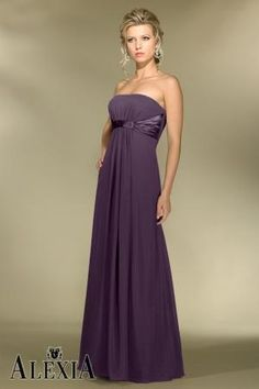Chiffon A-line,Gathered,Strapless Style 2974 Bridesmaid Dress by Alexia Designs