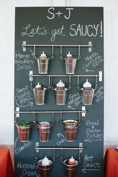 Barbecue Menu Board | Relysh Catering https://www.theknot.com/marketplace/relysh-catering-annapolis-md-626983 | Natalie Franke Photography https://www.theknot.com/marketplace/natalie-franke-photography-annapolis-md-392033