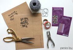 Free Printable Nail-Themed Christmas Gift Tags