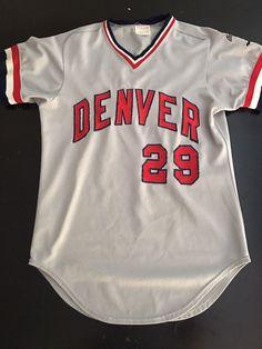 5664fed89 Denver Bears Minor League baseball Jersey 1980 s Authentic  29