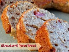 How to make Strawberry Pecan Bread - Mommy Snippets