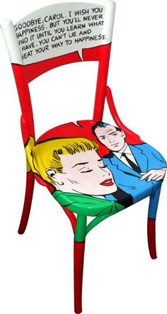 eco-vintage chair by Silvia Zacchello-would love to have one of these that look like classic Lichtenstein.