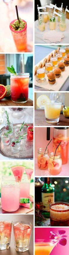 ► Un montón de ideas para bebidas para bodas.