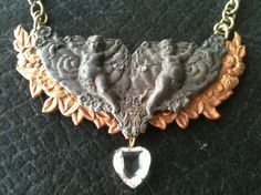 Metal Collage / Assemblage Necklace  Dark by decadentdelusion, $40.00