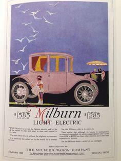 1917 Milburn Light Electric ad