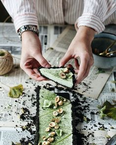 Oreo & Matcha tart recipe Tart Recipes, Dessert Recipes, Desserts, Shortcrust Pastry, Homemade Pie, Matcha, Oreo, Tasty, Dishes