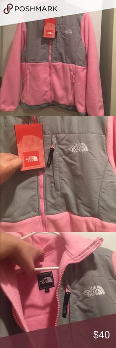 NWT Pink/Grey North Face Jacket! BRAND NEW pink and grey north face jacket! I received as a gift, but not my style. The North Face Jackets & Coats