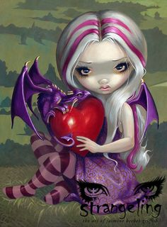 Strangeling - Art of Jasmine Becket-Griffith Magical Pictures, Fairy Pictures, Gothic Fairy, Baby Dragon, Tarot Decks, Faeries, Fine Art Prints, American Gothic, Fairy Art