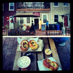 The Pretzel Bakery. Only open at random times. Gotta go though!