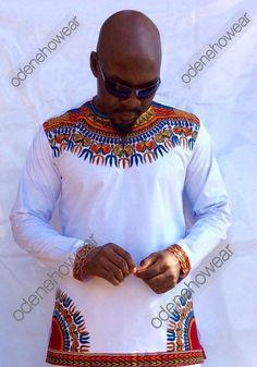 Vêtements africains / blanc Hassan Wear homme poli par Odenehowear
