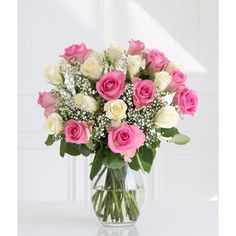 This pretty bouquet is a real delight for anyone who loves roses. The sweet pink roses in combination with the pure white and lacy gypsophila make a perfect gift. Certain to be received with pleasure, this Fairtrade bouquet is a truly thoughtful Online Flower Delivery, Flower Delivery Service, Same Day Flower Delivery, Mothers Day Roses, Mothers Day Wreath, Pastel Roses, Pink Roses, White Roses, Best Roses