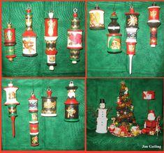 Spool Christmas Ornaments