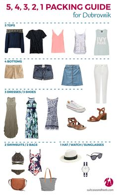 What to Pack for Dubrovnik via @suitcaseheels