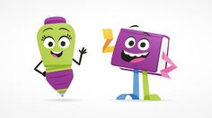 2 mascots I developed and illustrated for the successful Dutch reading program Nieuwsbegrip, which is used in more than 6,000 Dutch schools.