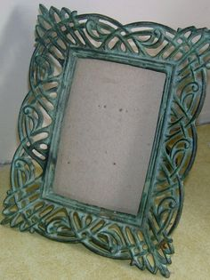 vintage Weathered Verde metal photo Frame by charlotteswonderweb, $12.75