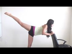 Loving this girl's videos.  This is a great leg workout... less than 15 minutes long & will do wonders for balance & flexibility too!