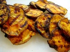 Grilled Jerk Sweet Potato Slices - yay for the 4th of July Food Fest we're having!