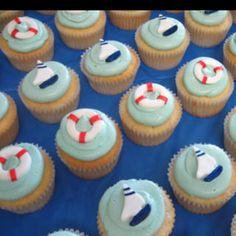 Nautical baby shower cupcakes