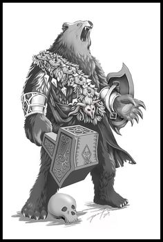 0908 Bear Tattoo - Commission by ~Icy-Flame on deviantART