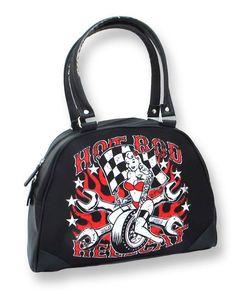 Hotrod Hellcat Damen FAST CHICK Handtasche/Bowling Bag.Tattoo,Biker,Pin up Style