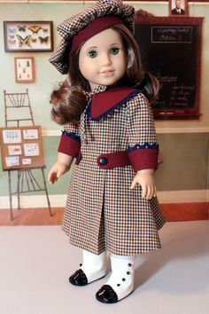 Middy Dress and Hat for Rebecca or any American Girl Doll. $55.00, via Etsy.