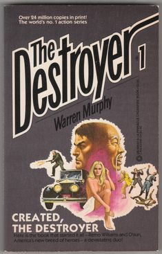 For sale the destroyer books 1 created warren murphy richard sapir pinnacle books 1971 november 1984 seventeenth printing out of print paperback remo williams master chiun cure emorys memories. Pulp Fiction, Fiction Books, Science Fiction, Vintage Book Covers, Book 1, Good Books, Writer, Reading, Adventure Stories