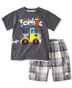 Kids Headquarters Baby Boys' 2-Piece Towing Tee & Shorts Set