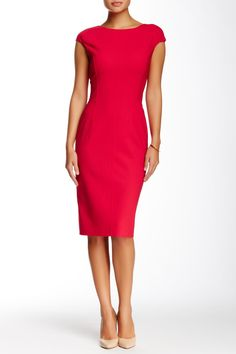 Oscar de la Renta | Cap Sleeve Pencil Dress | Nordstrom Rack  Sponsored by Nordstrom Rack.