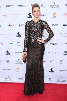 Brazilian actress Grazi Massafera wearing Dolce&Gabbana at the 44th International Emmy Awards in New York on November 21, 2016. #DGCelebs