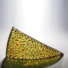 Matthew Curtis, Amber & Orange Section, 2016, blown tinted & fused glass