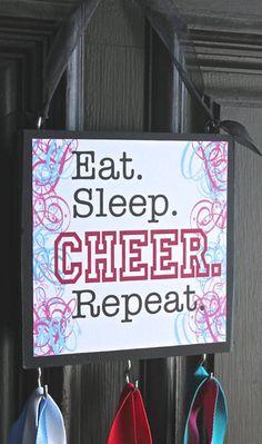 I eat and sleep cheer