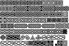 line celtic knot. One of these lines for the border of the heart