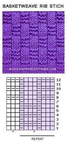 Knit Purl Chart pattern. So ea