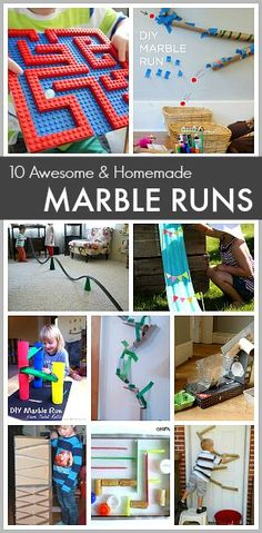 10 Homemade Marble Runs: Perfect STEM activity for the classroom or to keep busy this summer! #stem
