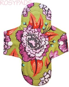 """8"""" Moderate Flow,Reusable Cloth Menstrual Pad, Moderate Absorbency, 100% Cotton With PUL Core, Reusable Menstrual Cloth, Rosy Pads, Rosypads by RosyPads on Etsy"""