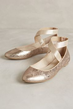 Rose gold flats #anthrofave