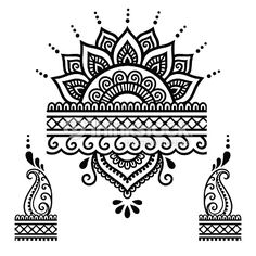 Henna Tattoo Flower Templatemehndi Vector Art | Thinkstock