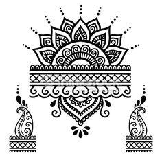 Henna Tattoo Flower Templatemehndi Vector Art | Thinkstock