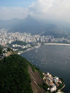 rio de janeiro seen from  sugarloaf mountain   Botafogo Beach seen from…