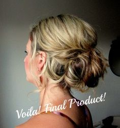 The low messy bun, how to!