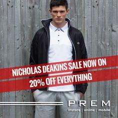 Nicholas Deakins Sale Now On 20% Off Everything  #menswear #nicholasdeakinssale #ndsale #menswearfashion #streetfashion #dapper #premclothing #shoppinghull #hull #hullfashion #menswearshop #onlinemenswearshop #worldwidedelivery #leeds  www.menswearshop.co.uk