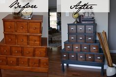 Vintage Style Apothecary Cabinet Before & After