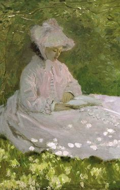 A Woman Reading (detail), 1871. Claude Monet (1840-1926).