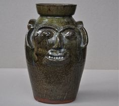 face jug by NC potter Burlon Craig
