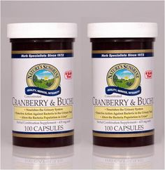 Naturessunshine Cranberry & Buchu Conc. Urinary System Support 100 Capsules (Pack of 2) Nature's Sunshine,