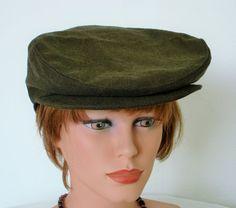FlatCap Newsboy Paperboy 100% Cotton  Size 58 cm by MermaidsHatbox