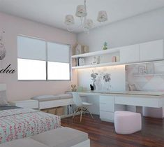 Bedroom Design And Decoration Tips And Ideas - Top Style Decor Room Design Bedroom, Teen Bedroom Designs, Bedroom Decor For Teen Girls, Cute Bedroom Ideas, Cute Room Decor, Home Room Design, Room Ideas Bedroom, Teen Room Decor, Small Room Bedroom
