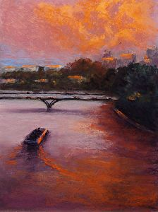 Evening On The Seine by Judith Perry in the FASO Daily Art Show http://dailyartshow.faso.com/20150518/1761283