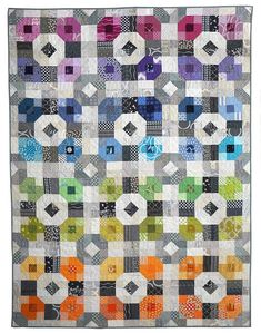 A Scrappy Take On My Picnic Plaid Pattern – Freshly Pieced Quilting Blogs, Quilting Projects, Quilting Designs, Modern Quilting, Quilt Design, Southwestern Quilts, Low Volume Quilt, Plaid Quilt, Rainbow Quilt