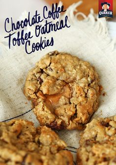 Chocolate Coffee Toffee Oatmeal Cookies. Say that 5 times fast. ;) Repin for a Quaker® oatmeal cookie recipe so good, they may not make it to the cookie jar.